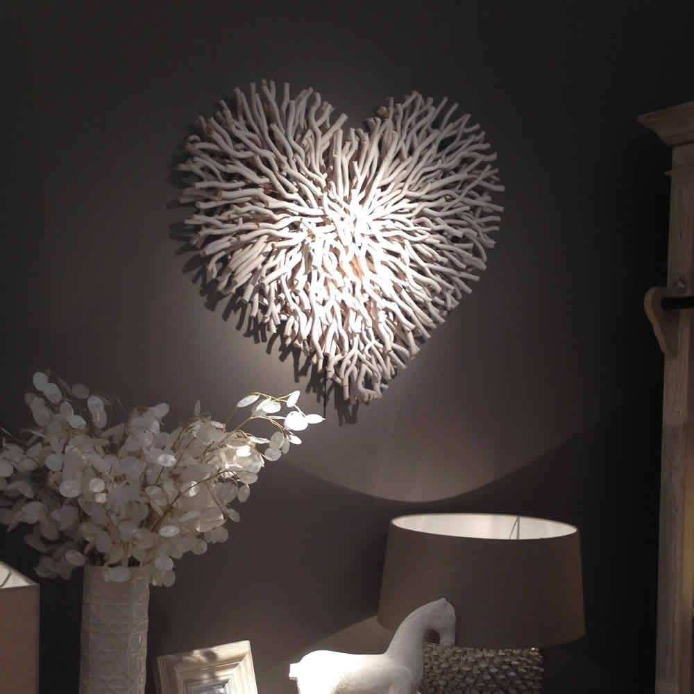 Handmade White Twig Wall Heart – Cowshed Interiors