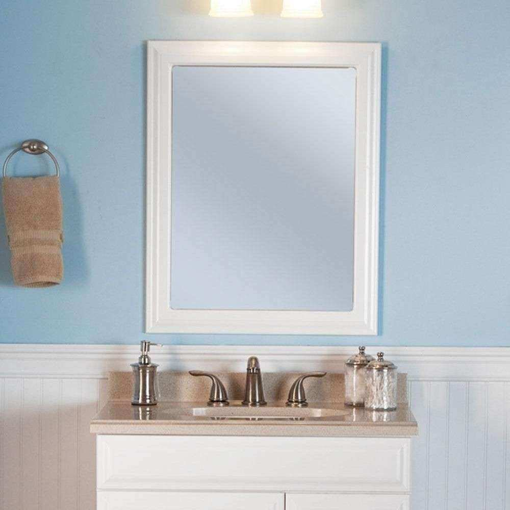 White wall mirrors decorative inspirational framed wall Hanging bathroom mirrors with frame
