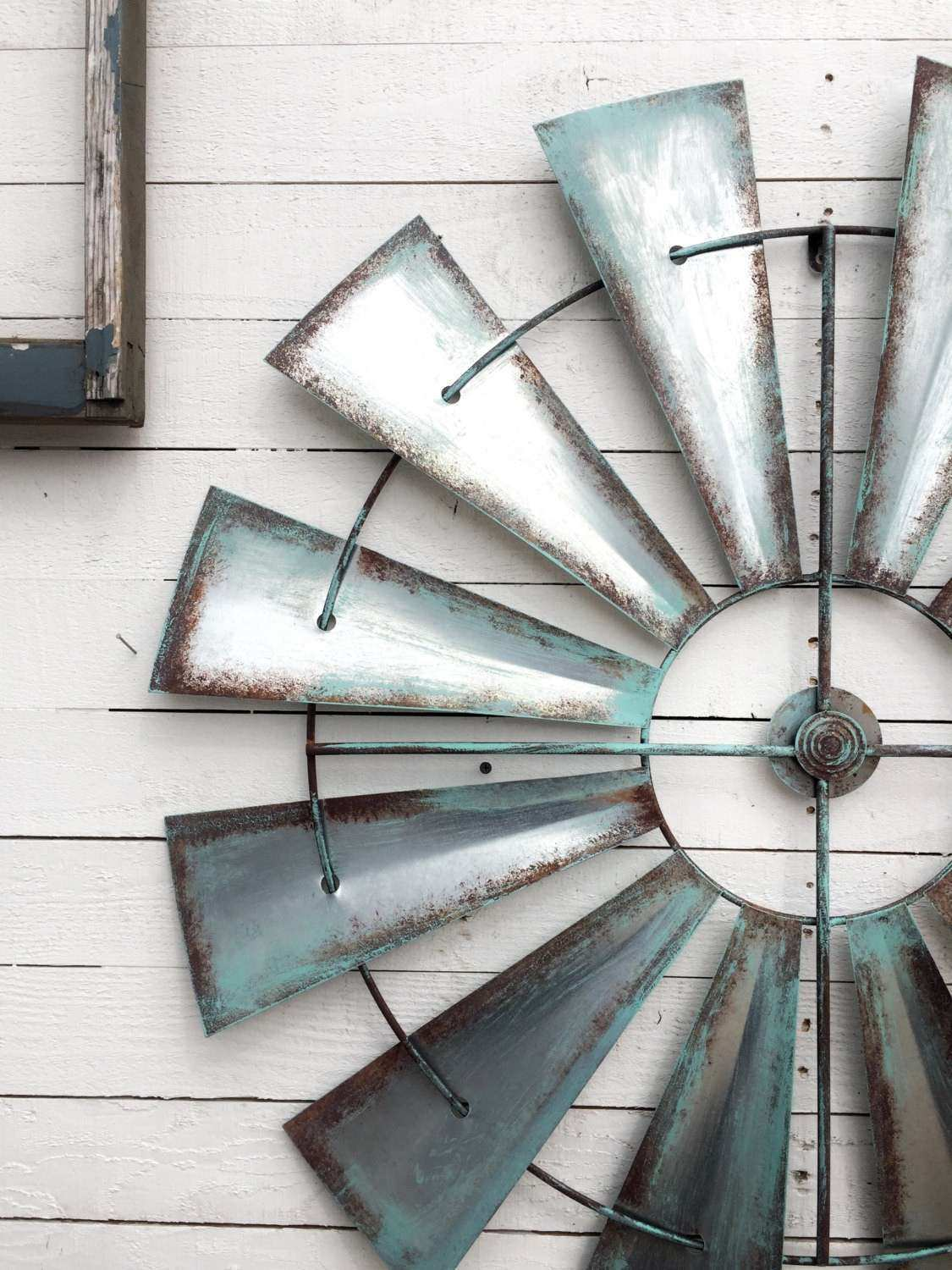 Full Windmill Head 35 Wall Decor Rustic Farmhouse