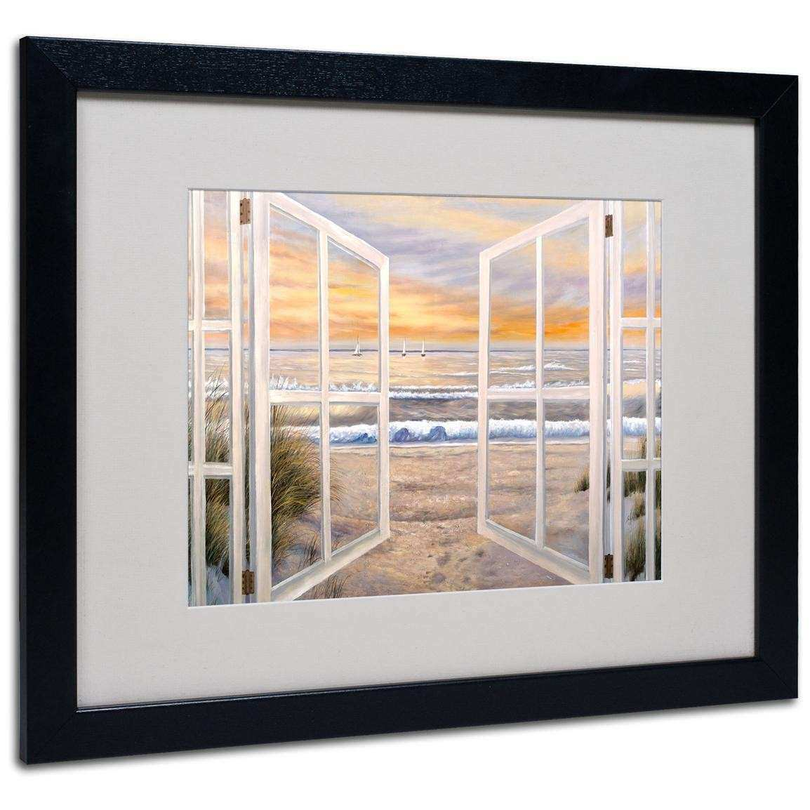 """Elongated Window"" Framed Matted Art by Joval"