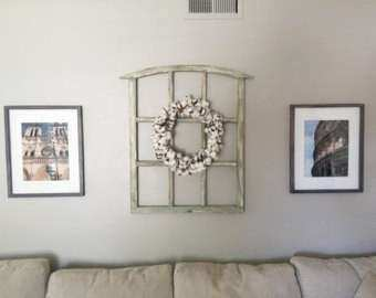 Wall decor old window frame