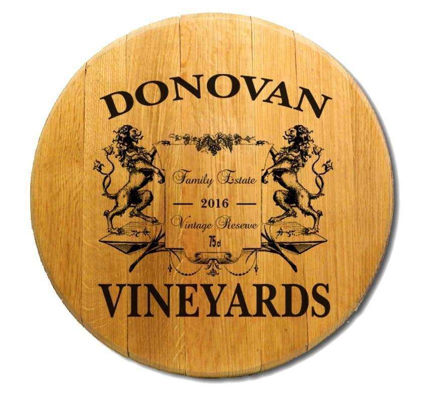Wine Barrel Head Wall Decor Fresh Personalized Barrel Head Lions ...