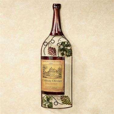 Wine Bottle Metal Wall Art Elegant Kitchen and Dining Room Wall ...