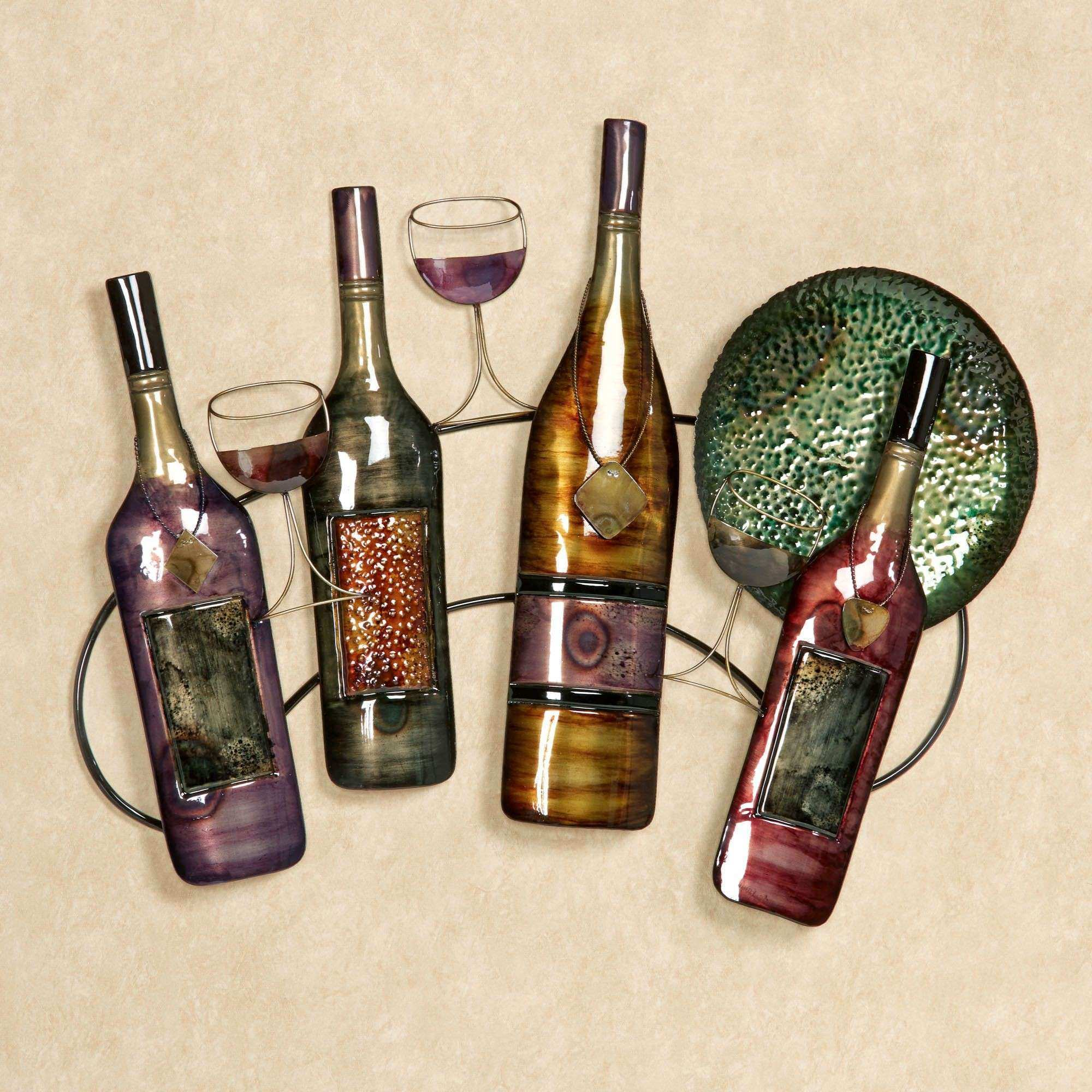 Wine Bottle Metal Wall Art Unique Wall Art Decor Purchased Recent Wine Wall Art Metal & Wine Bottle Metal Wall Art Unique Wall Art Decor Purchased Recent ...