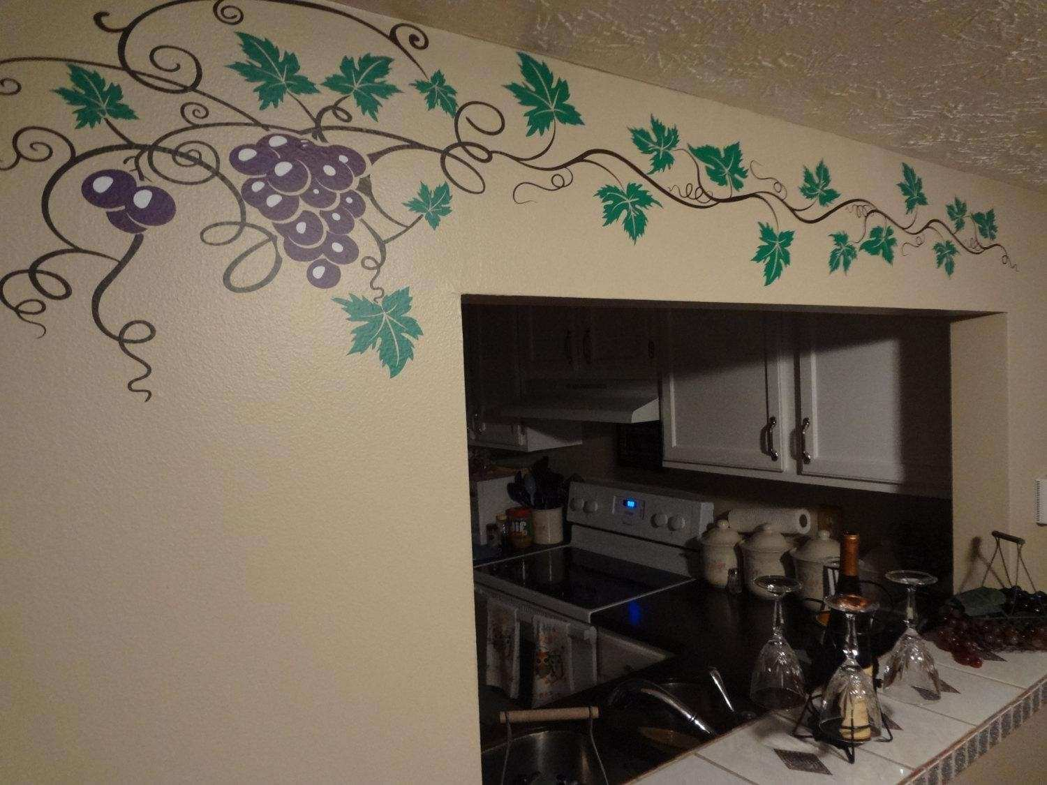 Wine Wall Decor for Kitchen Lovely 20 Best Collection Of Grape Vineyard Wall Art