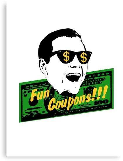 """Fun Coupons The Wolf of Wall Street"" Canvas Prints by"