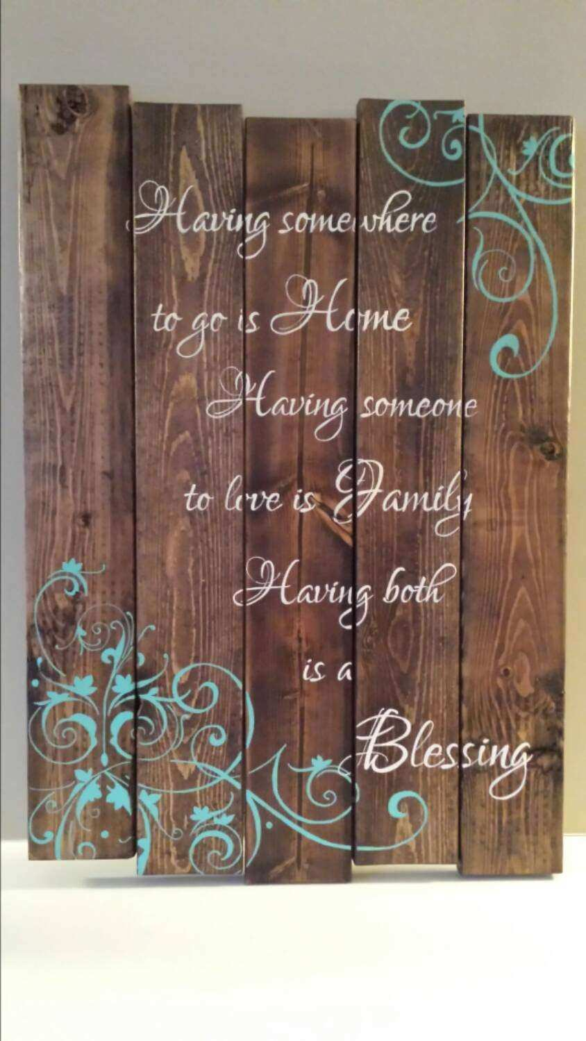 Wood Framed Wall Art With Canvas Print And Inspirational