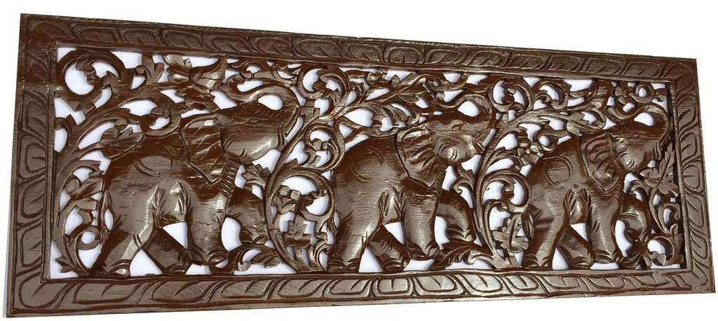 Wood Panel Wall Art Decor Best Of Tropical Home Decor Carved Wood Wall Art  Elephant Wood