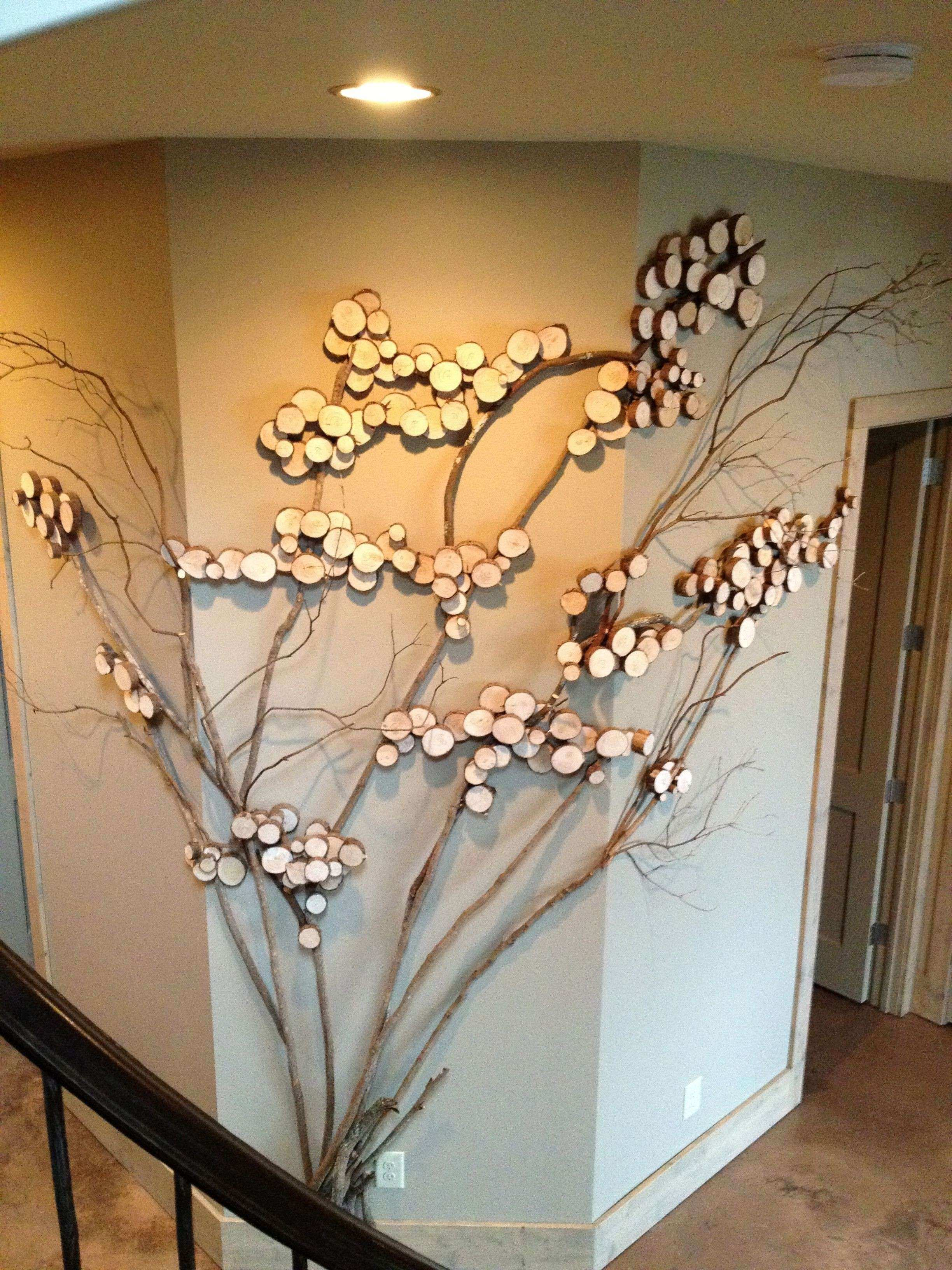 Wood Tree Wall Art Best Of Three Sided Twig For