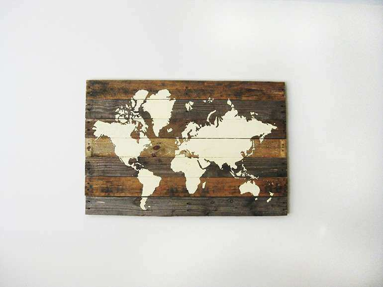 Pallet Board World Map The Merrythought