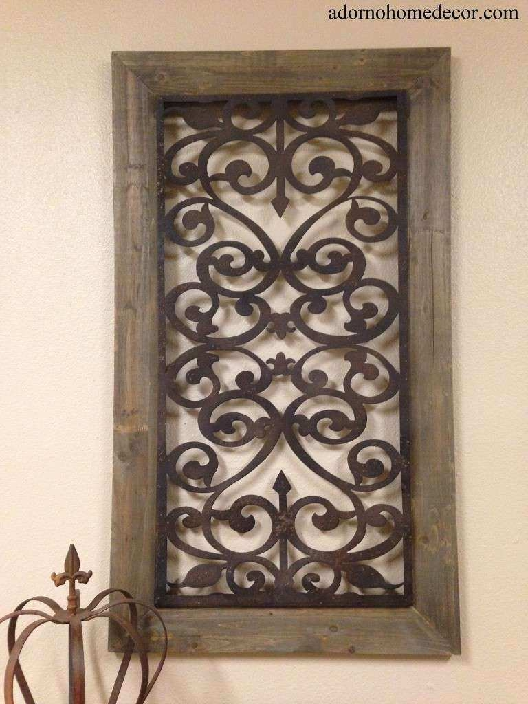 Metal Wood Wall Panel Antique Vintage Rustic Chic