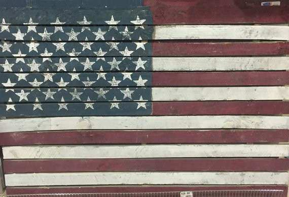 Items similar to Wooden American Flag Wall Art