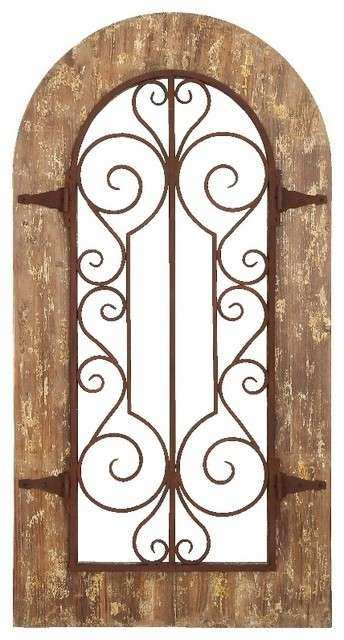 Wooden Arch Wall Decor Best Of Shape Wood Metal Panel Stately Includes Scroll