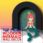 New Wooden Mermaid Wall Decor