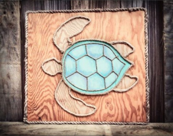 Rustic Sea Turtle Wall Art by Coastaholic on DeviantArt