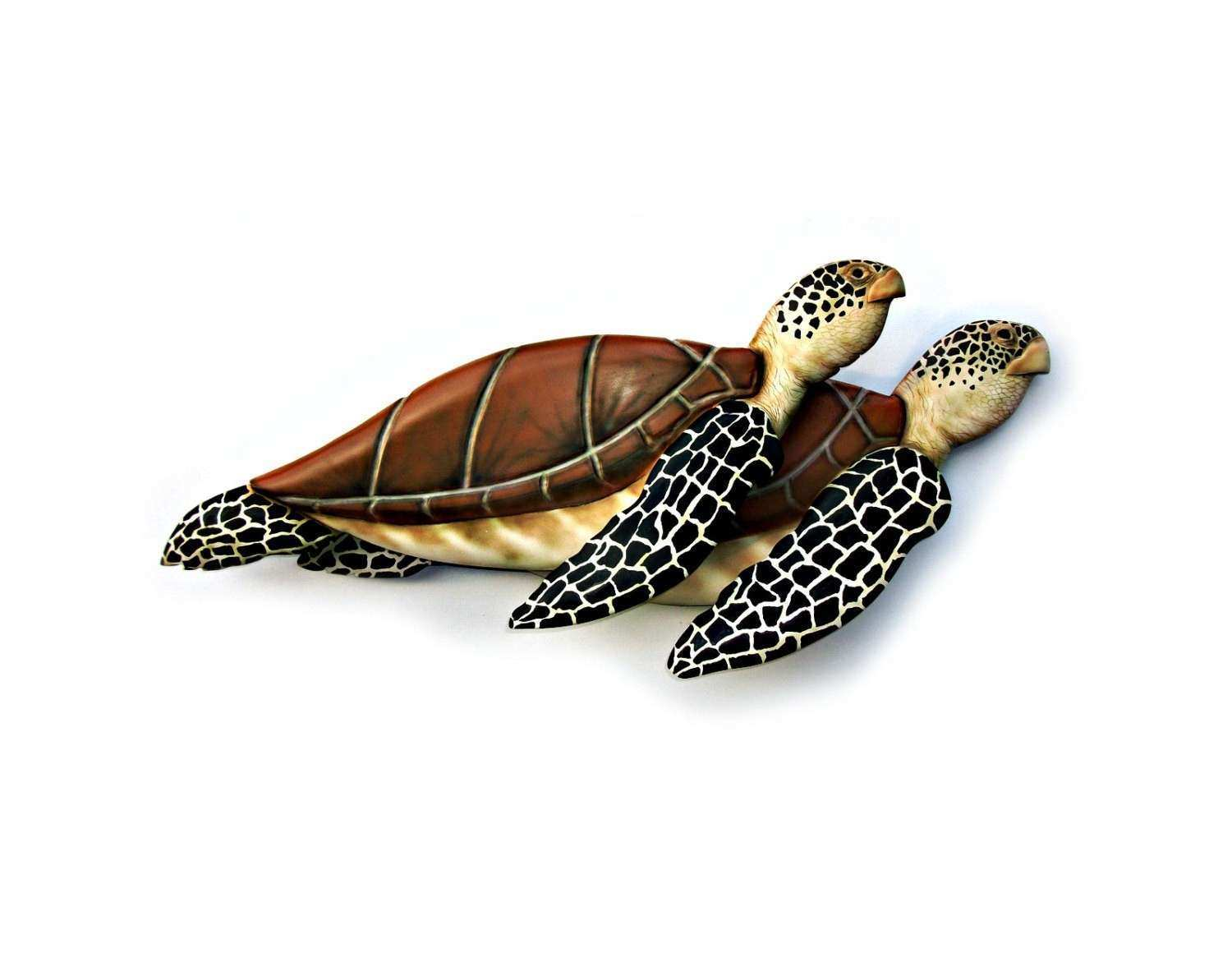 Sea Turtle art sculpture wood carving turtle by WOODNARTS