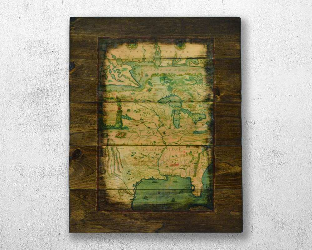Historic Map of United States Map Wood Wall Art Map of USA