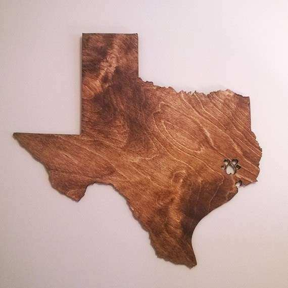 State Wood Wall Hanging United States Engraved by LadyMaggies