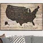 Awesome Wooden United States Wall Art