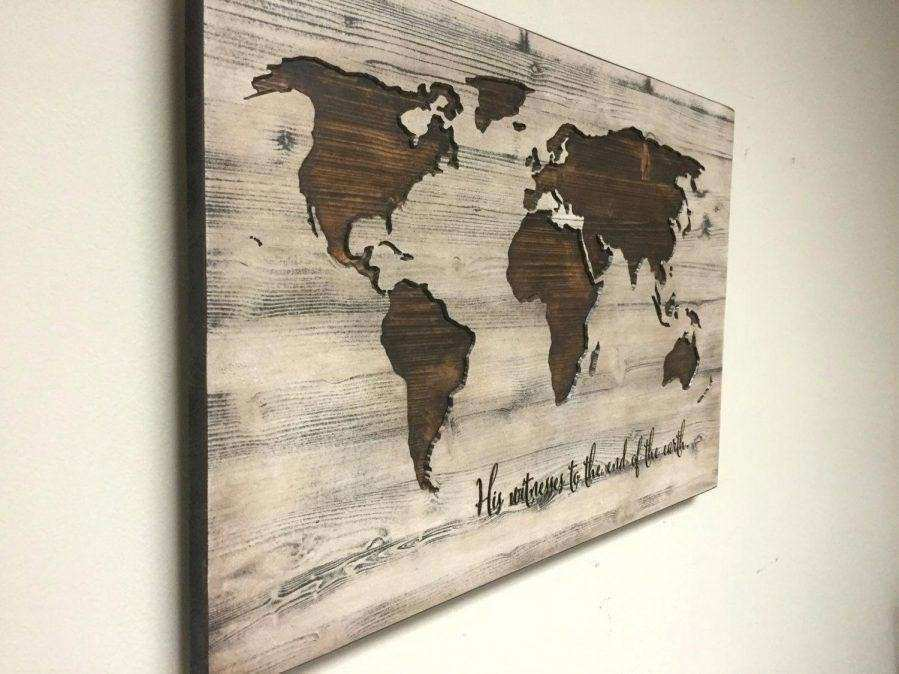 Wooden United States Wall Art New Wall Art Wood Map Wall Art 4 Of 20 ...