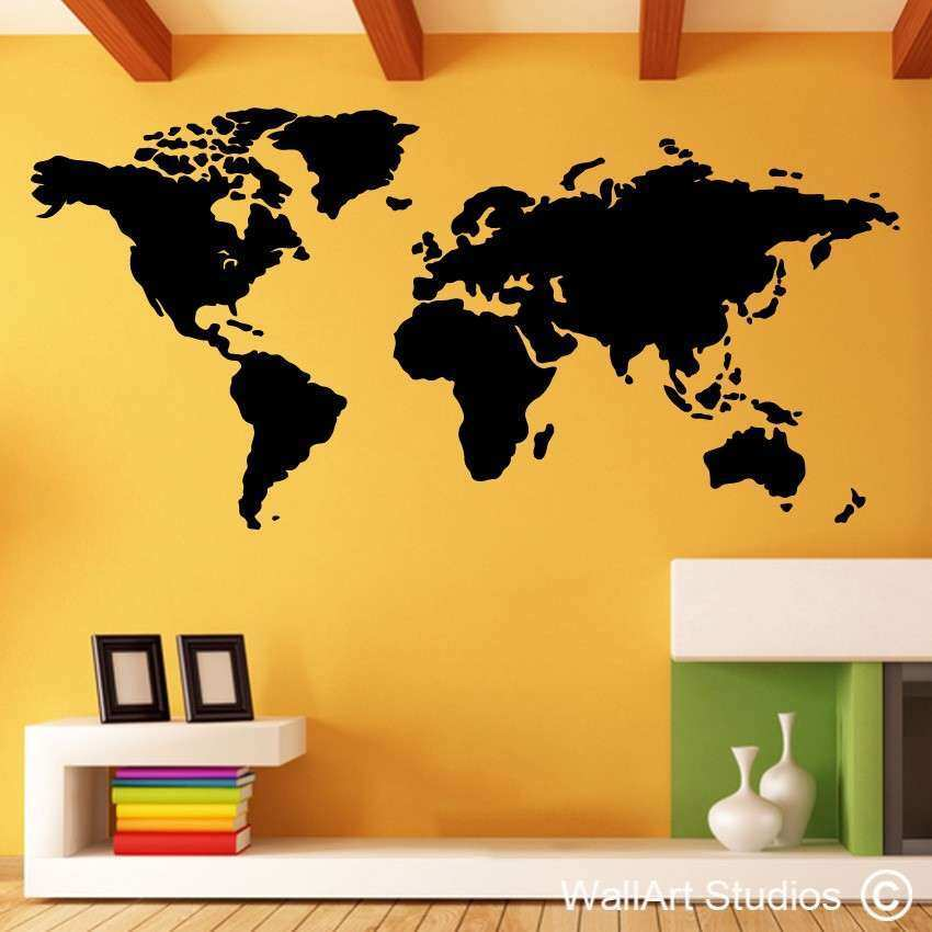 World Map Wall Art Stickers
