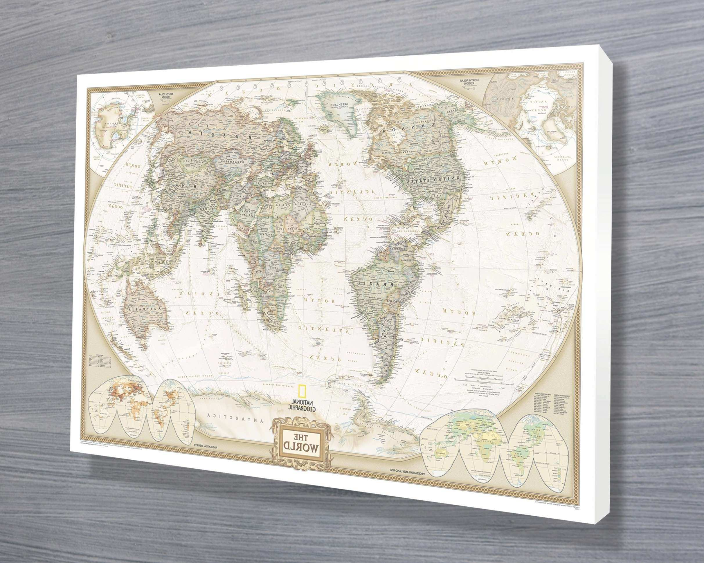 45 of World Map Wall Art Canvas