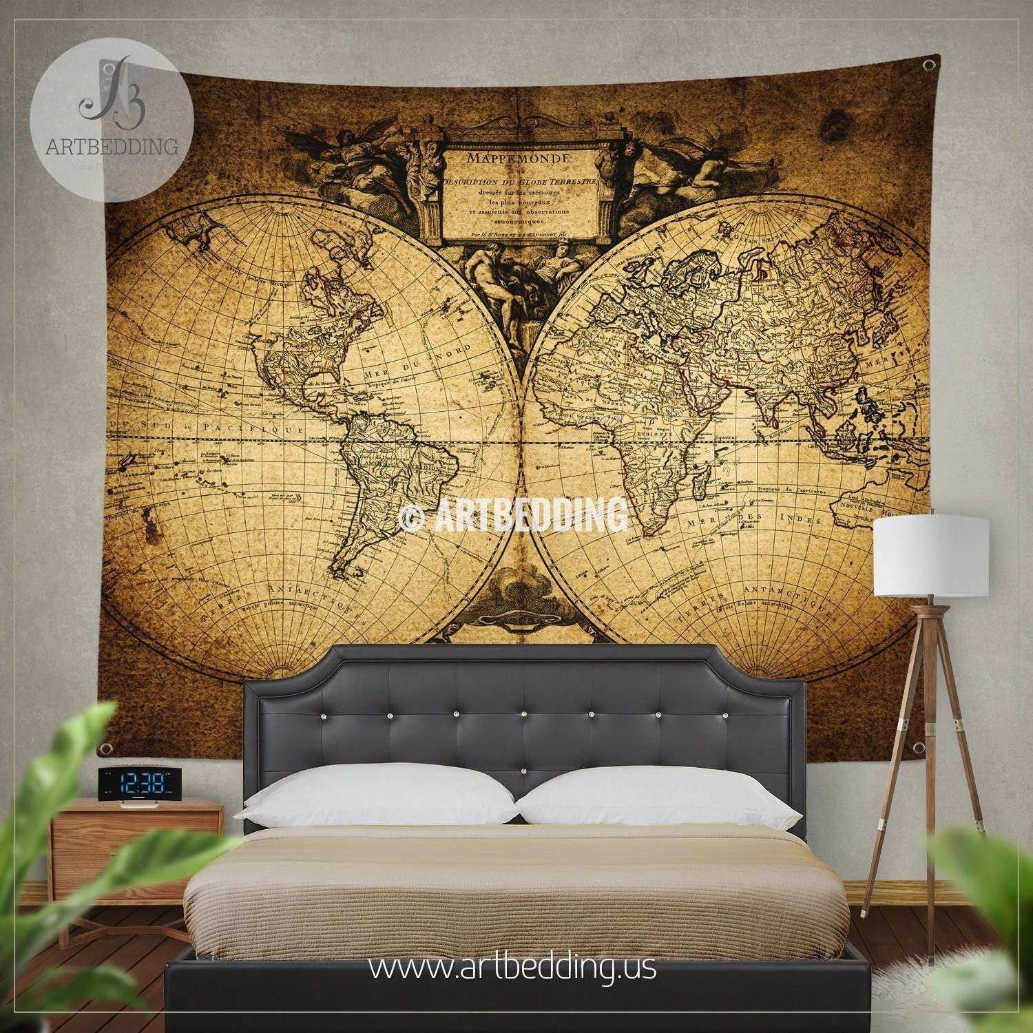 World Map Prints Wall Art Awesome Ancient World Map Wall Tapestry ...