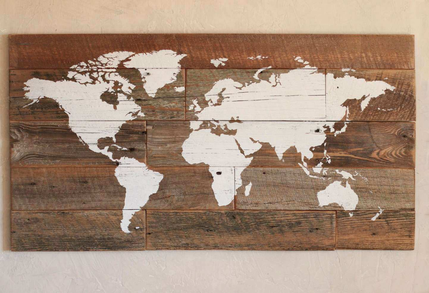 Wood map of the world World map wall art Push pins to mark