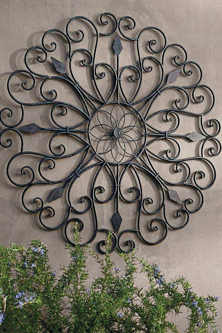 20 Best Ideas Outdoor Wrought Iron Wall Art