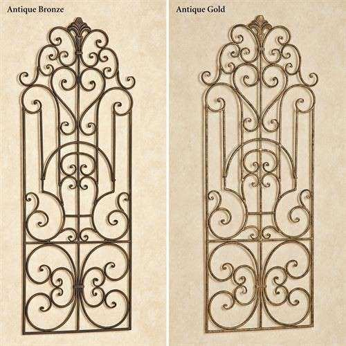 Wrought Iron Outdoor Wall Decor Elegant Antonello Indoor Outdoor Wrought Iron Wall Grille