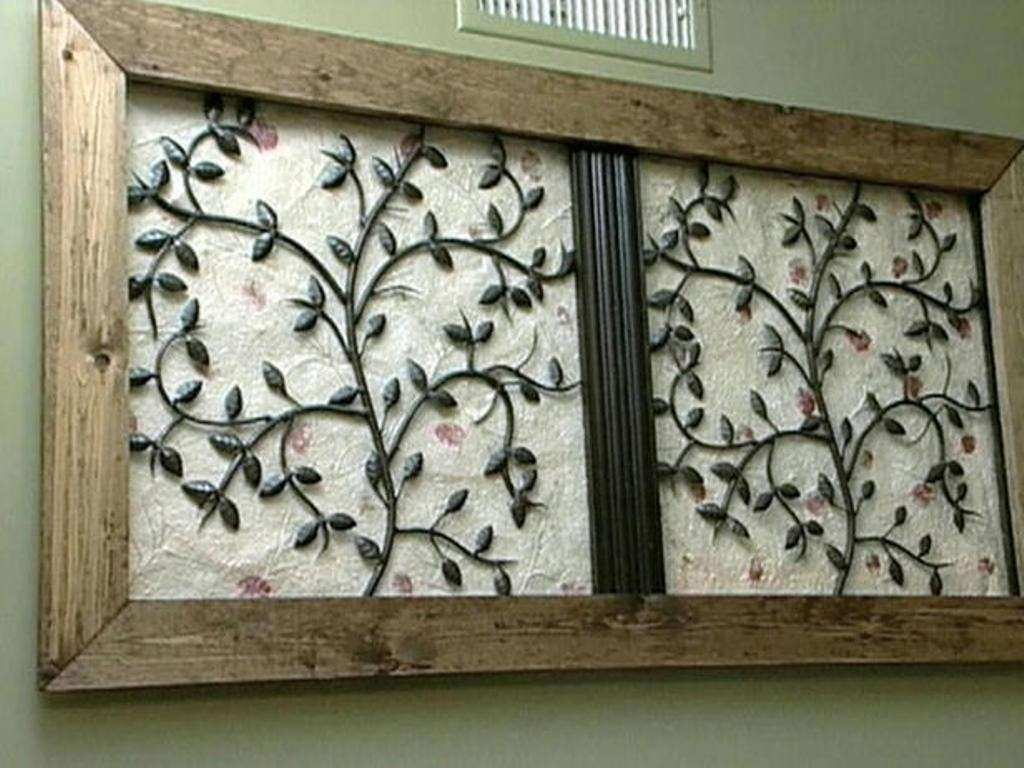 Tips & Ideas Wood Frame For Wrought Iron Wall Art With