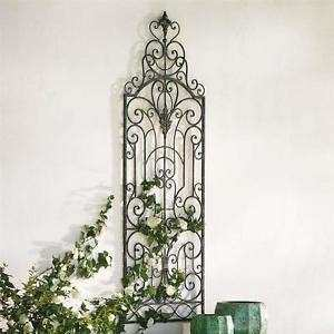 "Wrought Iron Outdoor Wall Decor Luxury 48"" Outdoor Wrought Iron French Shutter Garden Gate Wall"