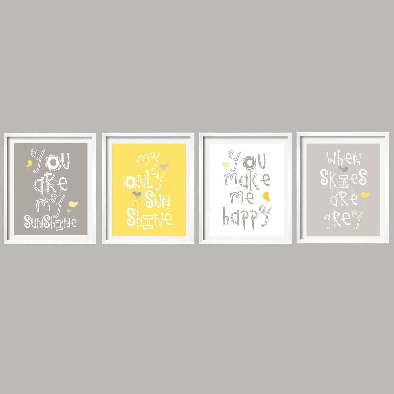 Beautiful Yellow and Grey Wall Decor