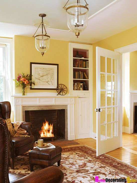 Yellow Wall Decor Best Of Wall Colors Living Rooms Idea French Doors ...