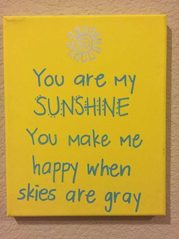 Items similar to You are my sunshine canvas wall art on Etsy