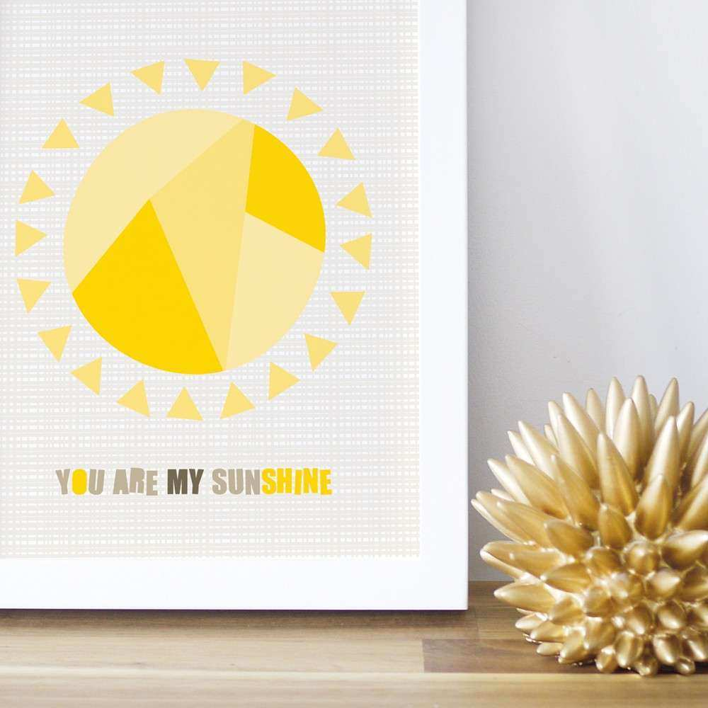 You Are My Sunshine Wall Art Trendy Peas