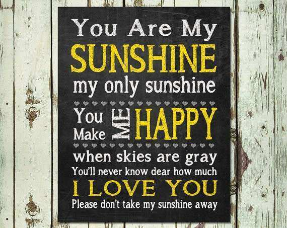 PRINTABLE ART You Are My Sunshine Wall Art by ThreeGypsySouls
