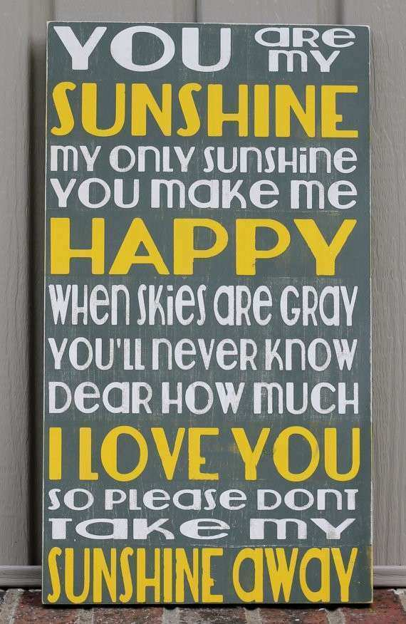 Items similar to You are my sunshine sign wall art