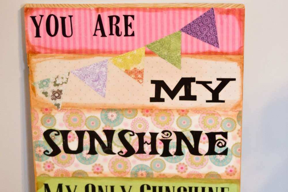 You are my Sunshine Wooden Distressed Wall Art by