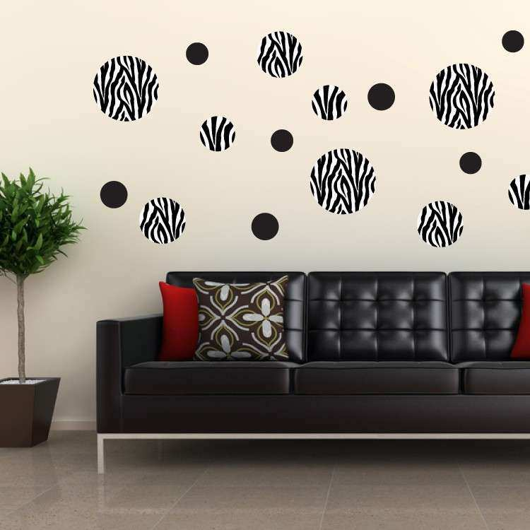 Zebra print stickers for walls lovely zebra dots
