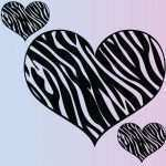 Zebra Print Stickers for Walls New Extra Zebra Heart Set Of 3 Wall Stickers Removable