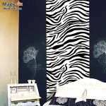 Zebra Print Stickers for Walls Unique Free Shipping Wallpaper Wallpaper Bedroom Wall Furniture