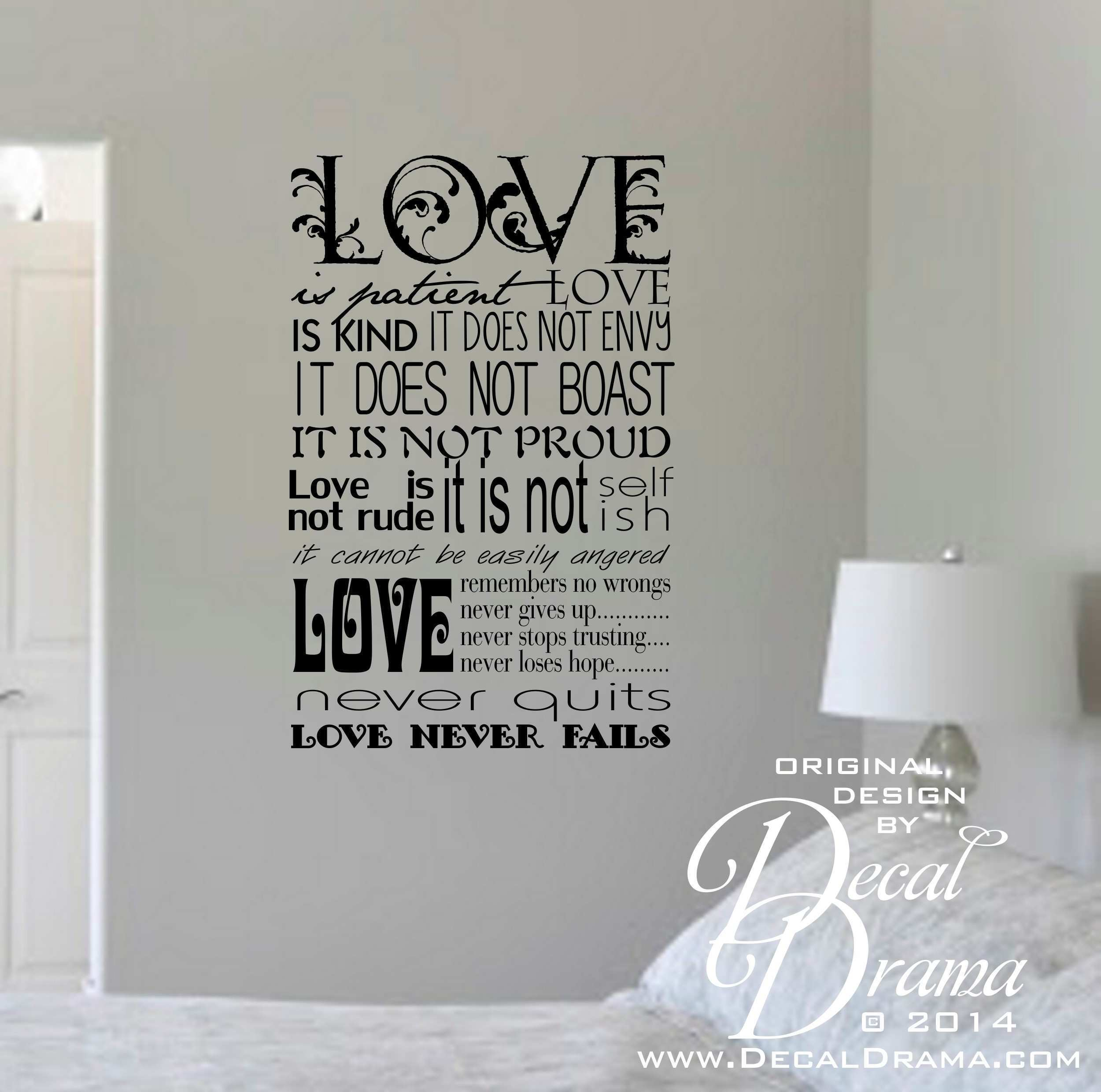 1 Corinthians 13 4 Google Search Design Whiteboard Wall Decal