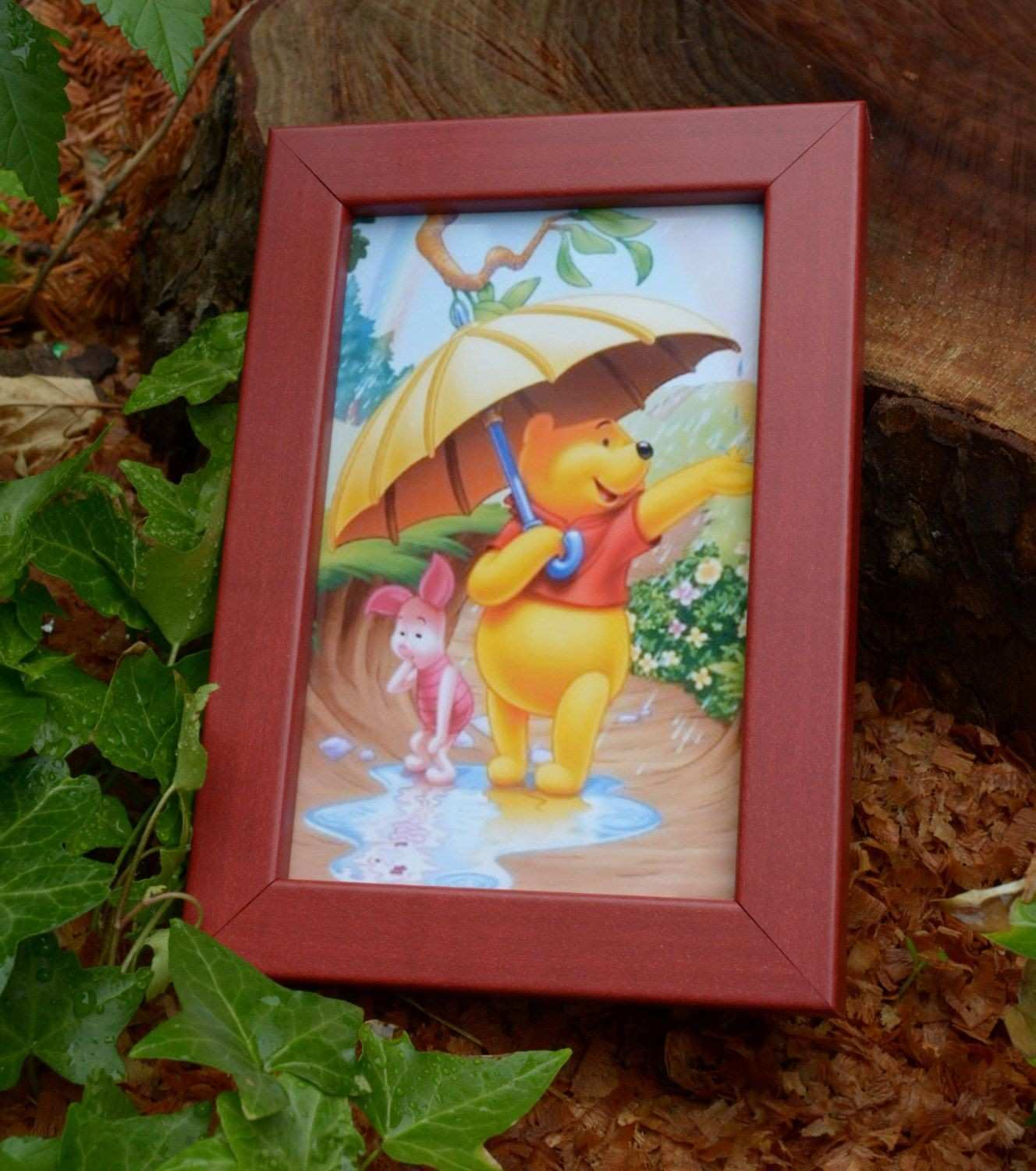 "Red 4x6"" 5x7"" Picture Frame Table Top Home Decor Wall Art Easel"