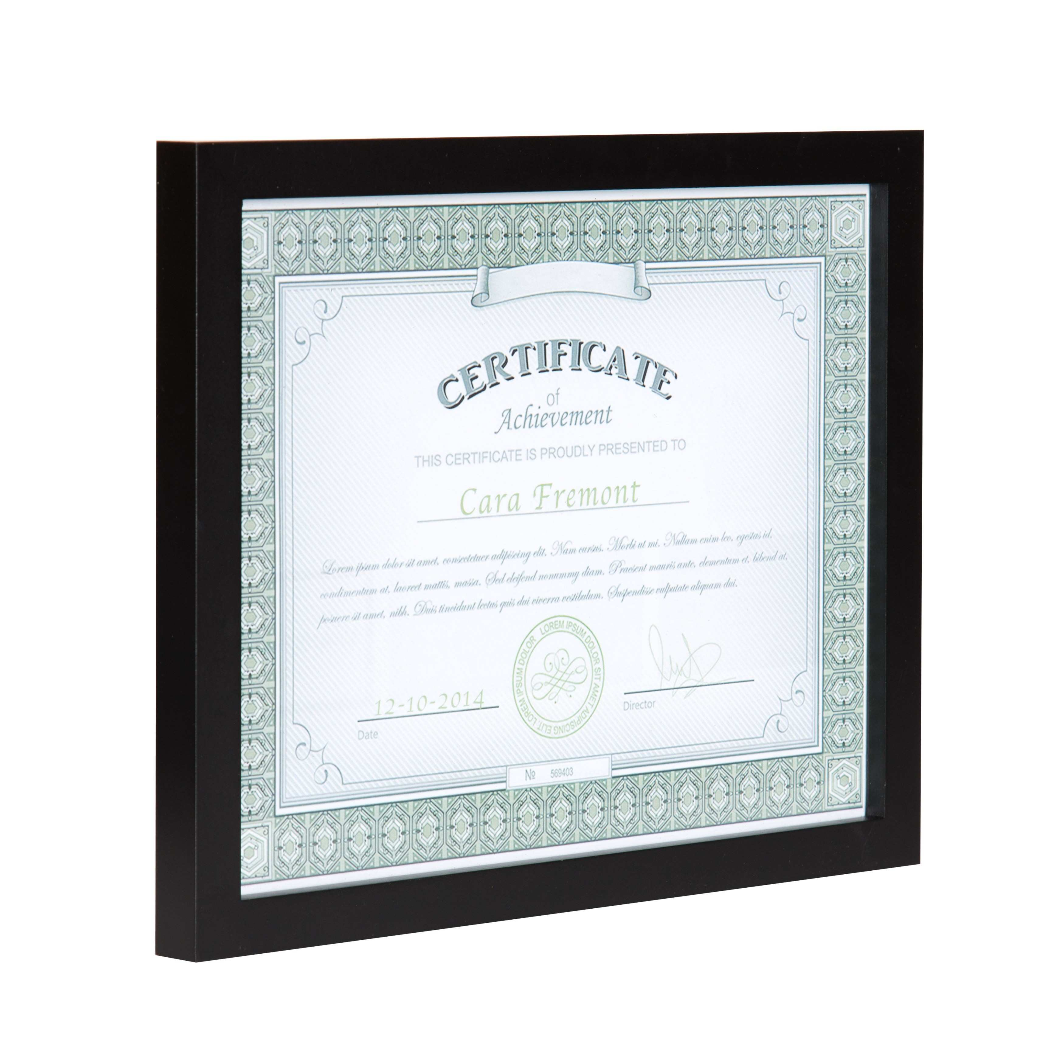 Black Wood Gallery Document Frame Pack of 4 8 5x11 Black