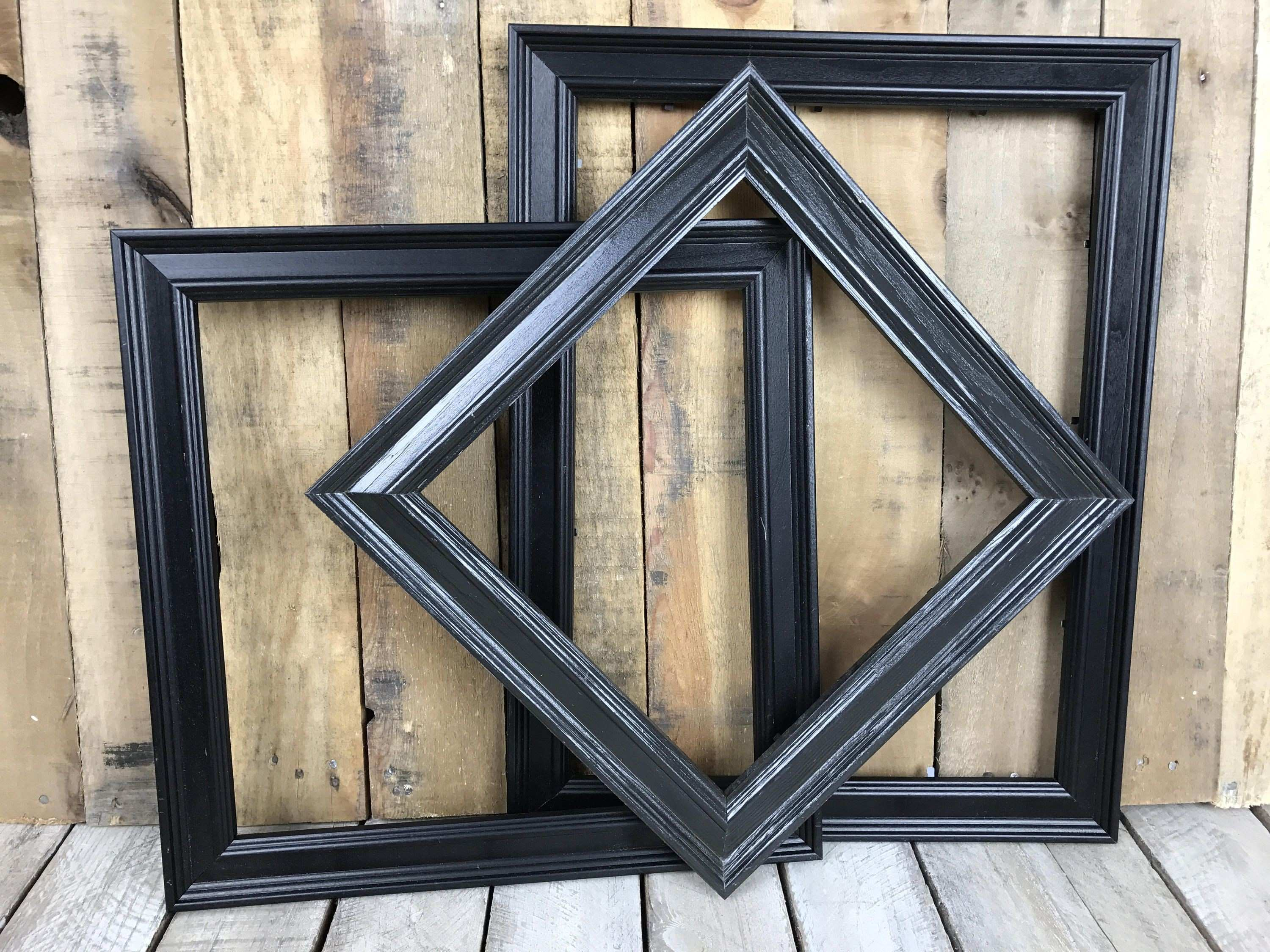 ON SALE Black Picture Frame Set of 3 Rustic Set 10x10 12x12