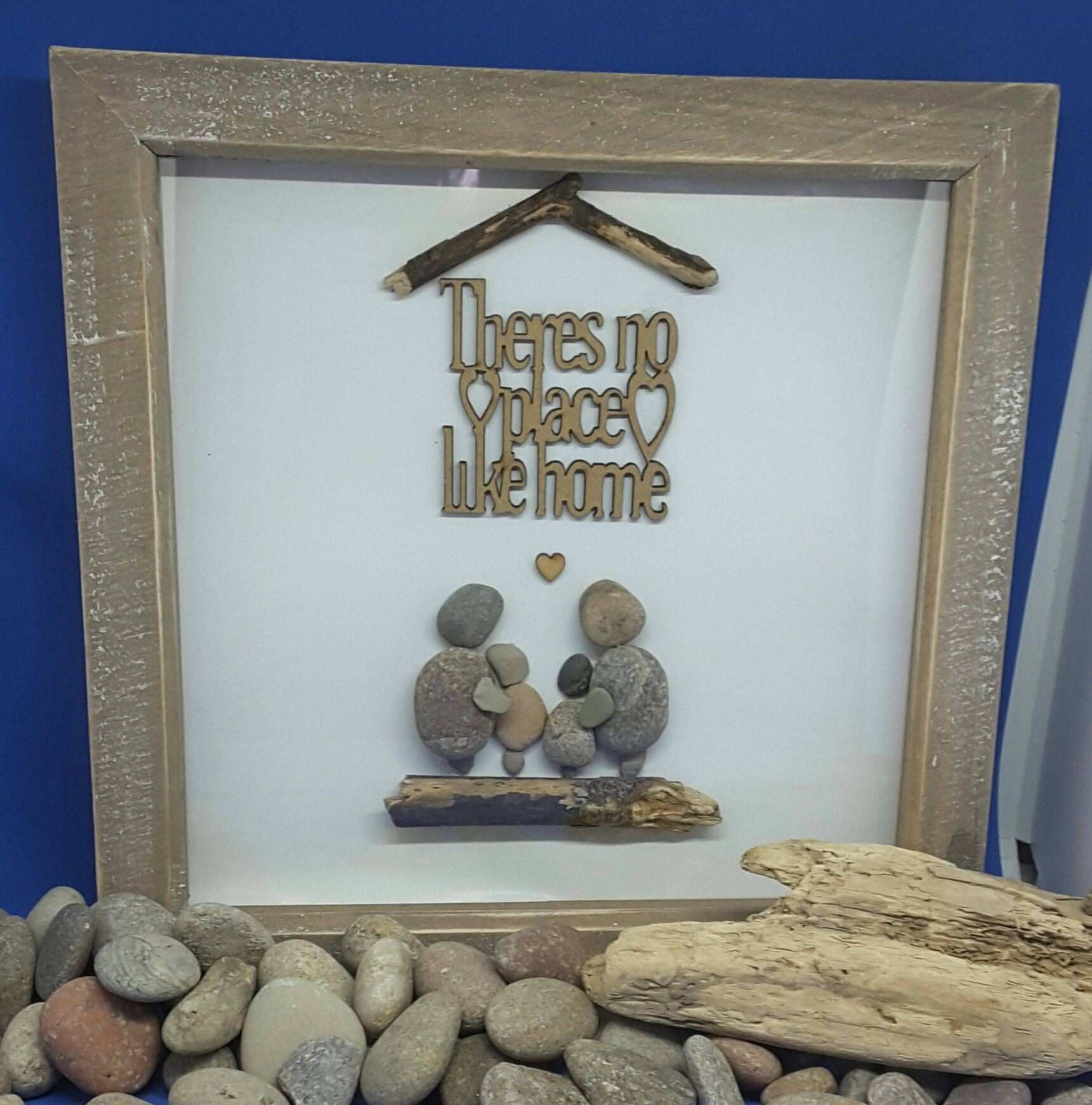 There s no place like home Pebble art Family t housewarming