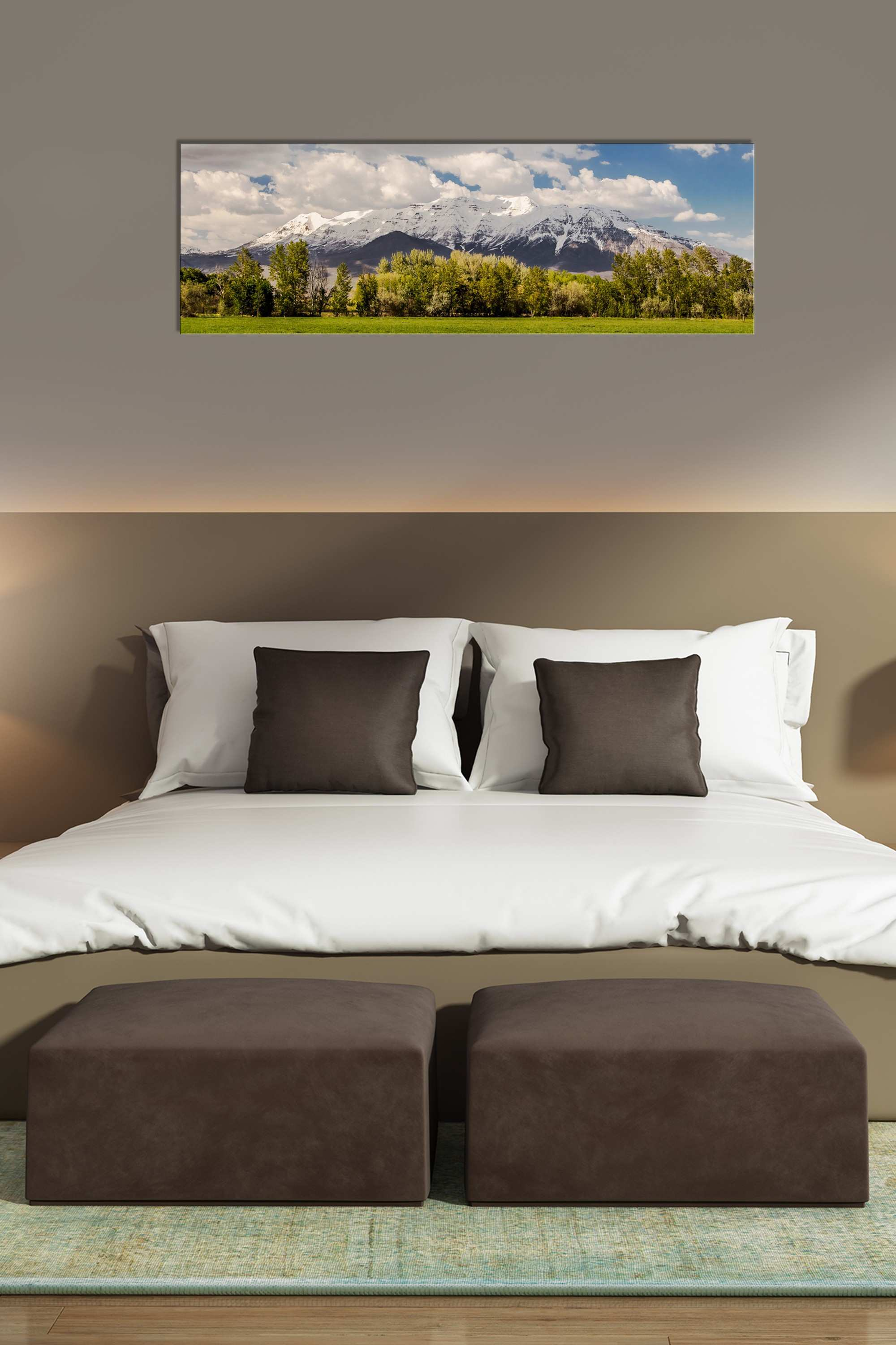 3 Picture Wall Art New Timpanogos Spring Panorama Rogue Aurora Graphy