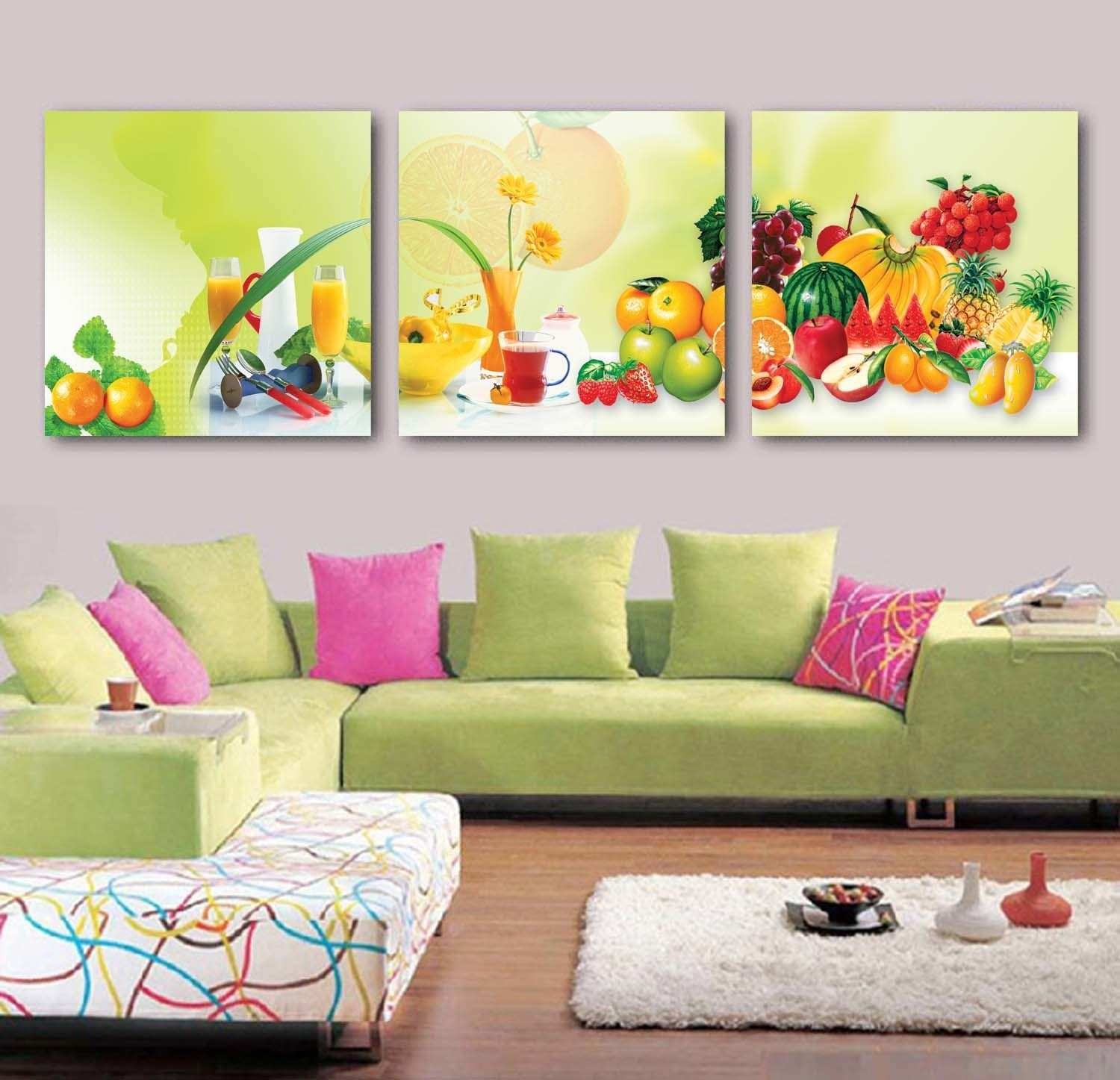 Exelent 3 Panel Wall Decor Pattern Wall Art Collections