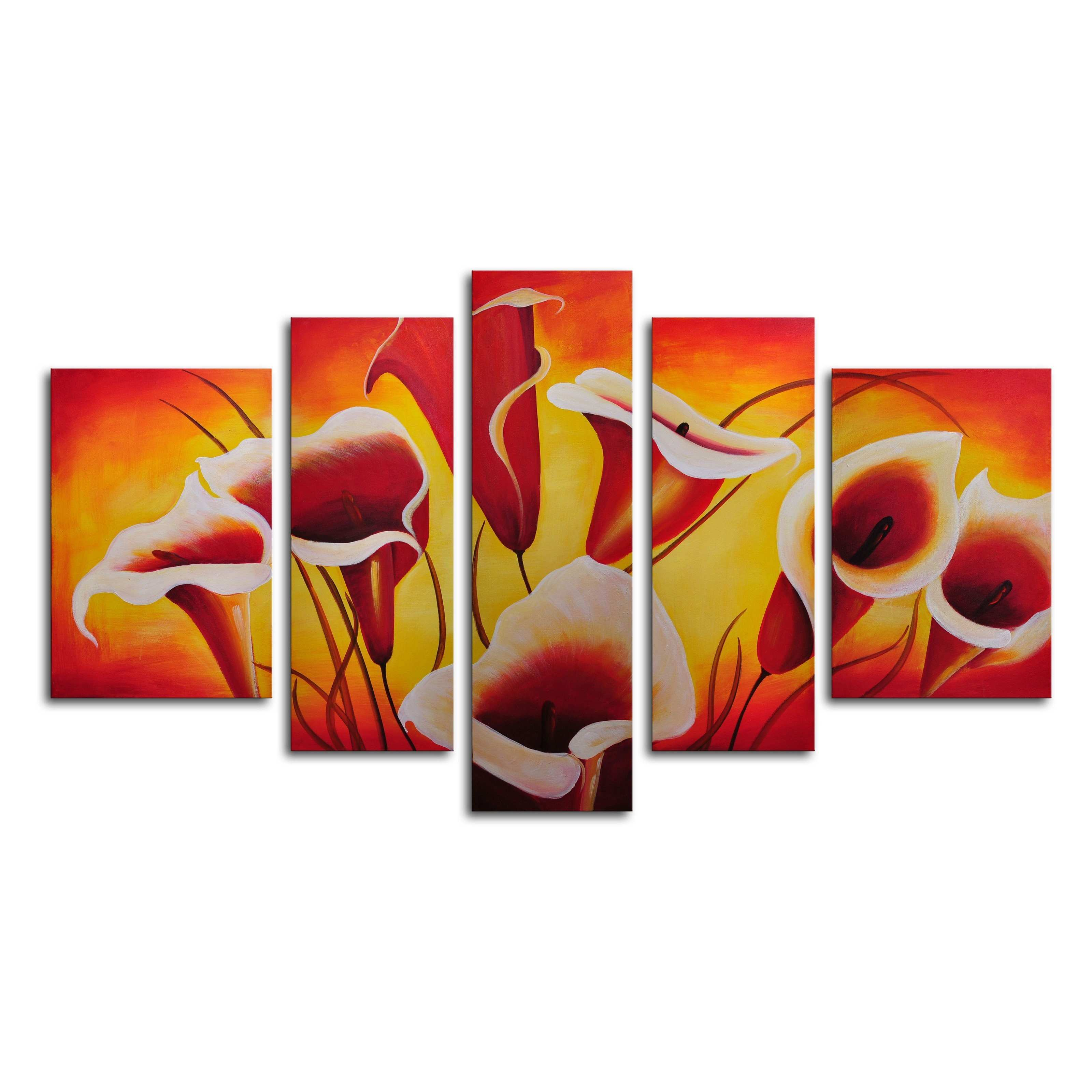 Home Design 4 Piece Wall Art Frosted Glass Canvas 56w X 32h In M5